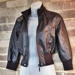 Jackets & Blazers - Leather biker jacket!