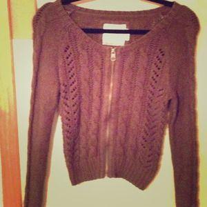 H&M dark gray zip up sweater