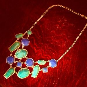 Jewelry - *NWT* Blue & Green Statement Necklace