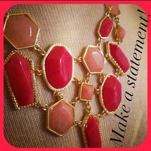 Jewelry - *NWT* Gorgeous Pinks & Orange Statement necklace!