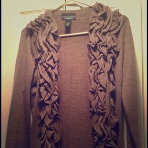 Cynthia Rowley Sweaters - Ruffle Cardigan