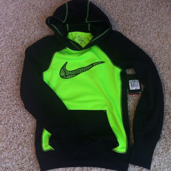 36% off Nike Tops - Nike hoodie. Black & neon green. NWT. Women's ...