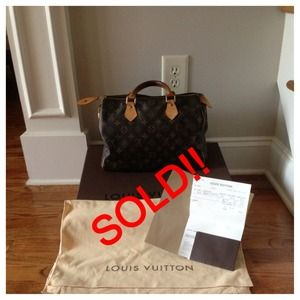 Authentic Louis Vuitton Speedy 30 with dust bag!