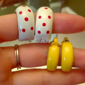 So FUN! Polka dots and yellow glam