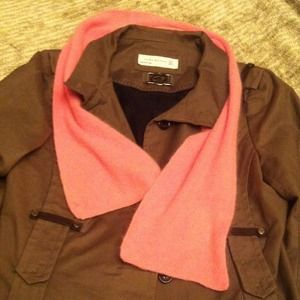 Aris Accessories - Pink Angora-Blend Scarf