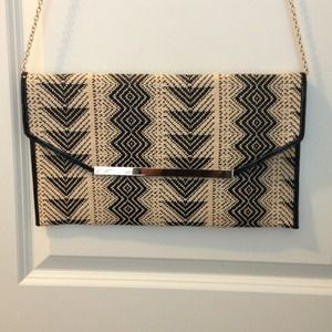 Clutches & Wallets - Large Black and Tan clutch
