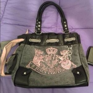 Juicy couture velour day dreamer bag