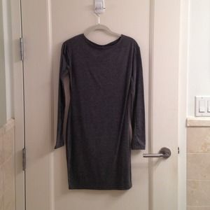 Dresses & Skirts - Gray long sleeve bodycon dress
