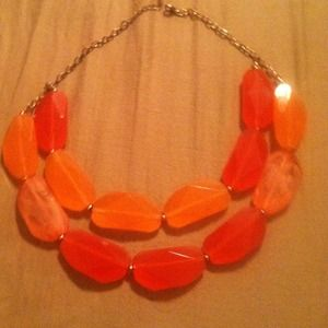 Coral statement necklace