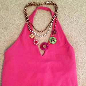 Banana Republic Tops - Banana Republic Pink Halter Top