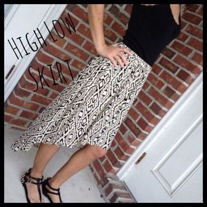 Iris Los Angeles Dresses & Skirts - Beautiful Aztec Pattern High Low Skirt
