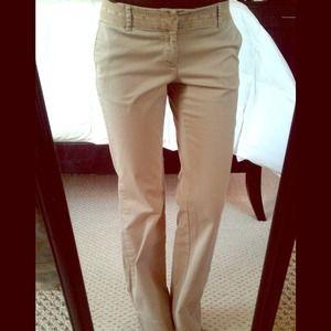Lace trimmed khakis