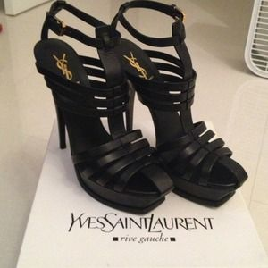 Yves Saint Laurent Shoes - Saint Laurent Brand new Black tribute sandals YSL