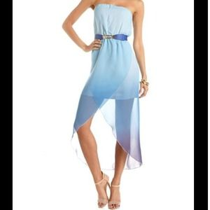 Charlotte Russe Dresses & Skirts - Blue Ombré High Low Dress