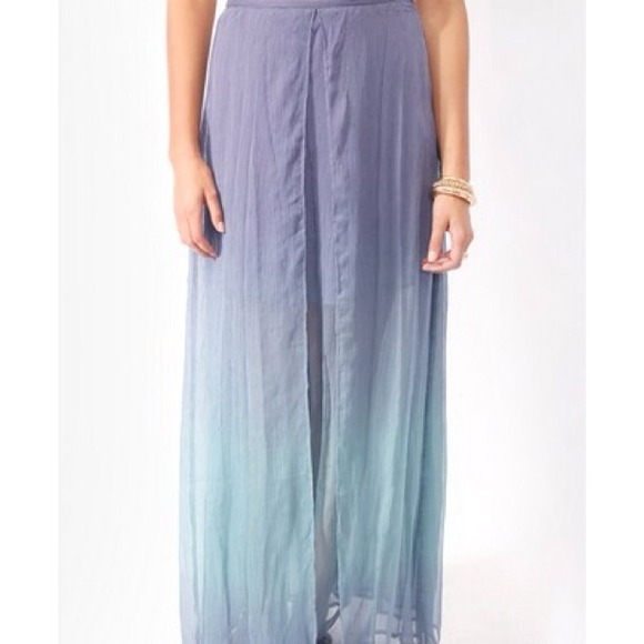 Forever 21 Skirts - 🚫SOLD🚫Layered Ombre Maxi Skirt