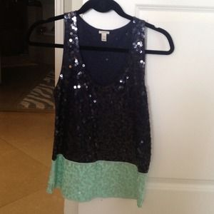 Bundle Jcrew sequin top and Jcrew neon top