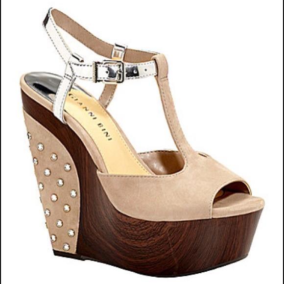 ee94cf8082 Gianni Bini Shoes | Nicolette Wedge Sandals | Poshmark
