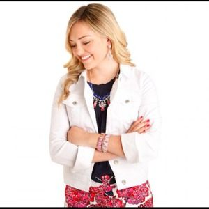 Old Navy Jackets & Blazers - Old Navy White Denim Jacket - Medium