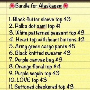 Other - 🌺Bundle for Alaskagem🌺