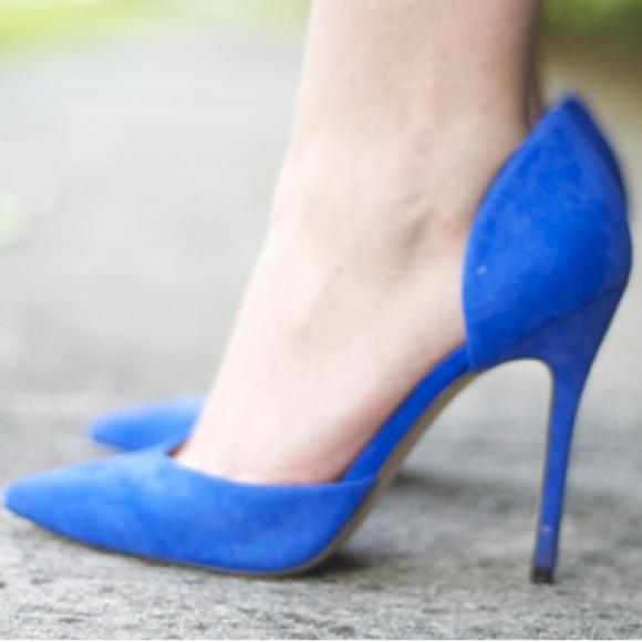Blue Zara Pumps
