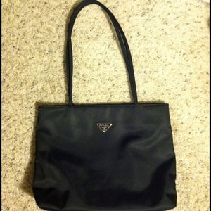 Prada nylon tote bag black