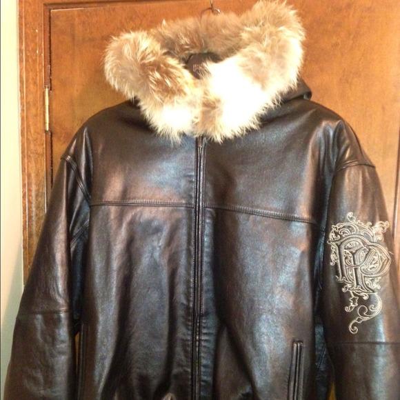 78e9f9239 pelle pelle Jackets & Coats | Pelle Leather Bomber With 100 Fox Fur ...