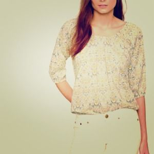 J. Crew Tops - J. Crew Liberty Art Fabric Peasant Top