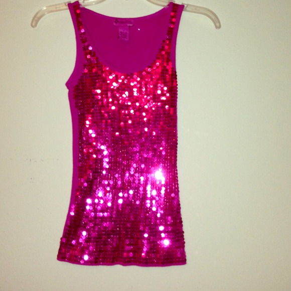 40% off Tops - Sparkly hot pink tank top from Monica's closet on ...