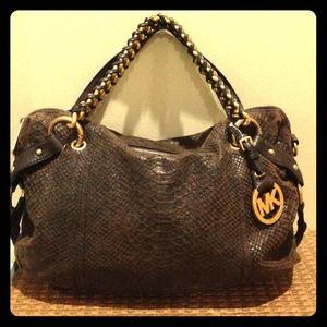 b10fd72318ab ... new style michael kors bags soldmichael kors tristan python mocha ab1c0  120af ...