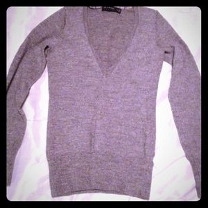 Express gray and silver sweater