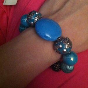 Mixed turquoise bracelet