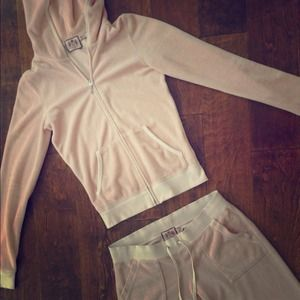 Juicy Couture Other - [ juicy couture ] Pink sweat foodie and pants