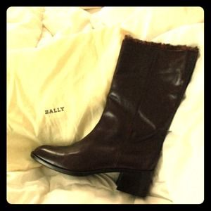 Genuine leather Bally boots