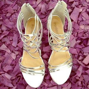Platinum Silver Gladiator Sandals ✨