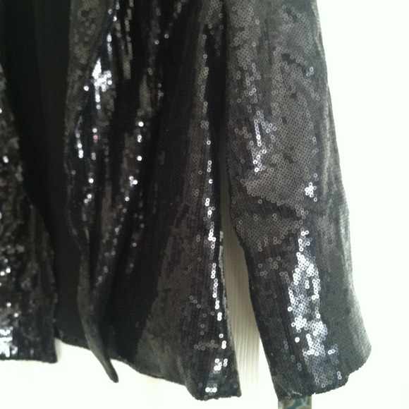 Black Sequin Jacket Forever 21 Black Sequin Blazer/jacket