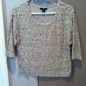 Cropped Gold H&M Sweater