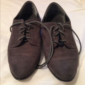 Grey Forever 21 oxfords Size 7