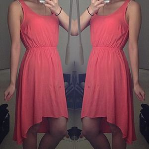 Dresses & Skirts - Casual Coral Hi Low (NEW!)
