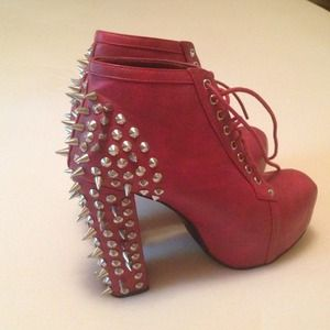 Brand new never worn spiked booties