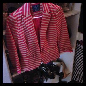 Pink striped blazer
