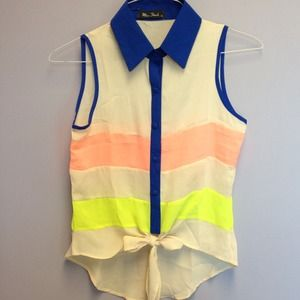 Miss Finch Tops - *cute* high-low color block fashion blouse