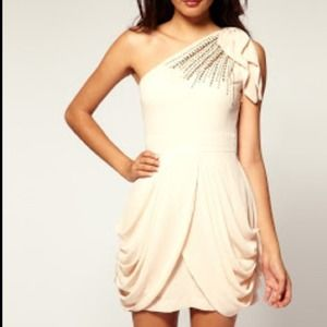 Asos TFNC London embellished one shoulder dress SM