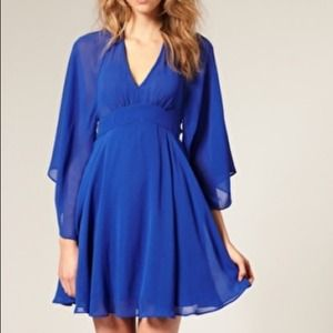 Asos Revive Dress with Deep V Cape Back