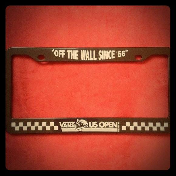 Vans Accessories | Us Open License Plate Holder | Poshmark