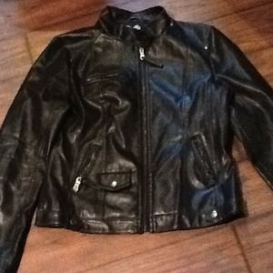 Jackets & Blazers - hold$$$Black Biker Jacket size Medium