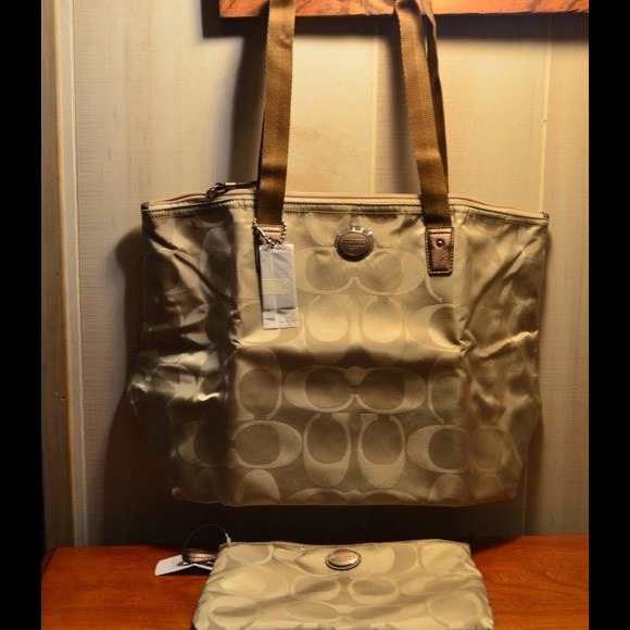 Coach Handbags - 💥NWT Coach SigNature Nylon Packable Weekender 💥 4
