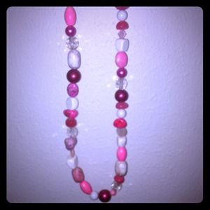 HALF OFF Pink Gemstone Necklace