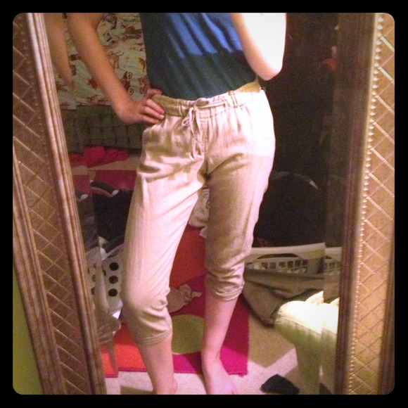 50% off Old Navy Pants - Khaki colored jogger capris from Morgan's ...