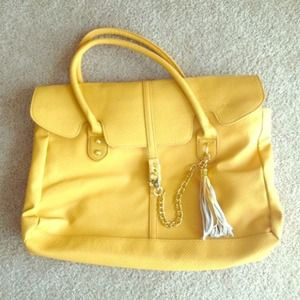 HOLD! Mustard Yellow Just Fab Handbag