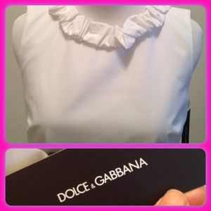 D&G Dresses & Skirts - Brand NEW!!!! Dolce & Gabbana White Sheath Dress